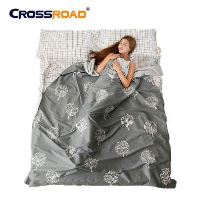 CROSSROAD衛生賓館睡袋成人室內單人雙人多人加厚全棉超輕便攜式旅行酒店隔臟內膽床單