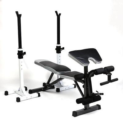 家用舉重床臥推架杠鈴架 多功能深蹲架臥推器杠鈴套裝健身器材*.*