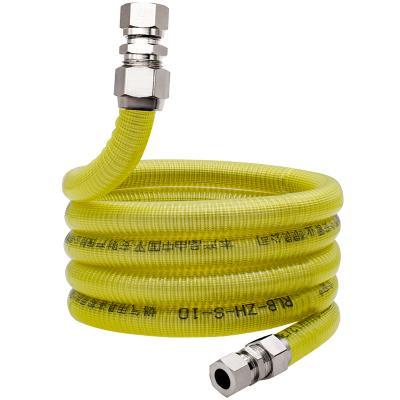 今安 304不銹鋼燃氣管天然氣管波紋管家用燃氣灶連接管防爆金屬煤氣管波紋軟管 燃氣熱水器灶具防爆管 1.5米通用接頭