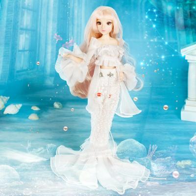 德必勝MMGIRL抖音玩具十二星座雙魚座公主娃娃男孩女孩玩具芭比娃娃生日禮物14關節M2012