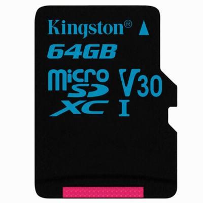 金士顿(KINGSTON) TF卡64G(读90m写45m) MicroSD卡,车载存储/手机通用,支持4K