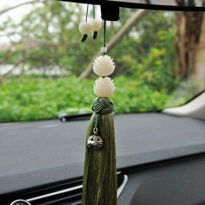 澳派汽车挂件高档菩提子雕刻莲花挂饰车内饰品车用符创意手工