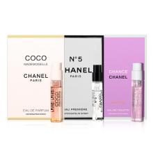 香奈儿(Chanel) 香水试管香水小样套装女COCO+5号之水+橙邂逅