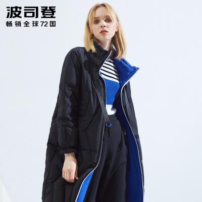 波司登羽絨服女中長款厚款修身顯瘦兩面穿外套女B80132030