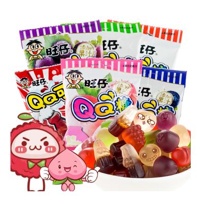 旺旺 糖果 旺仔QQ糖 多口味20g*20包(果汁軟糖兒童橡皮糖童年大禮包)
