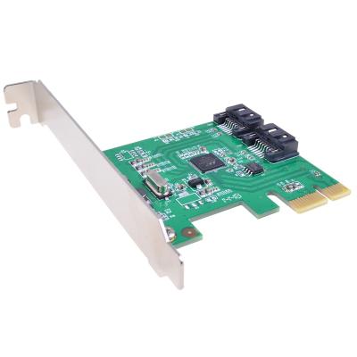 魔羯(MOGE)MC2656 PCIEx1转SATA3.0阵列卡台式机SATA3.0阵列卡 转接卡支持NCQ、raid0