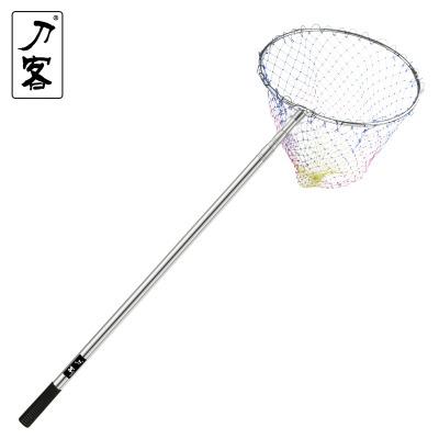 刀客抄網不銹鋼撈魚網漁具配件魚抄網3米4米抄網桿