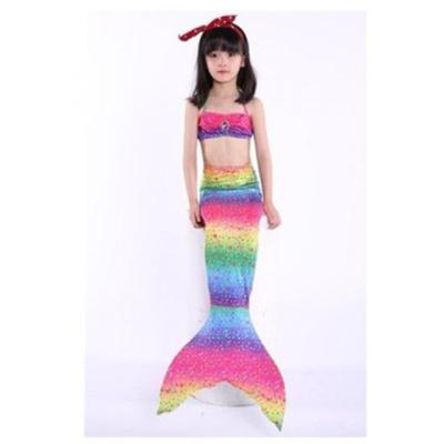 兒童美人魚泳衣美人魚尾巴女孩美人魚服裝游泳衣溫泉服可裝腳蹼臻依緣