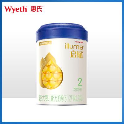 惠氏(Wyeth)启赋2段 6-12月较大婴儿婴幼儿配方奶粉 爱尔兰原装进口 1罐900g