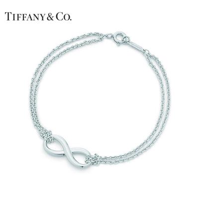 蒂芙尼蒂凡尼TIFFANY & CO. 创意Infinity银双链手链