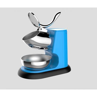 大功率碎冰机商用家用奶茶店用沙冰机刨冰机双刀电动打冰机 蓝色高脚碎冰机双刀头一小时碎冰量95KG