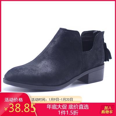 达芙妮旗下鞋柜杜拉拉系列冬休闲圆头马丁靴学院系百搭女短靴