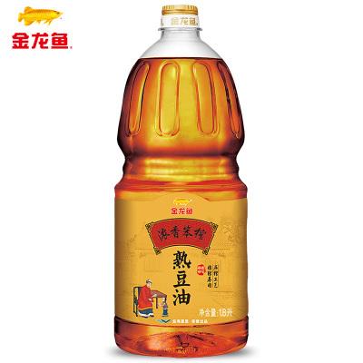 金龙鱼浓香笨榨熟豆油非转基因1.8L小榨食用油家用东北豆油小瓶油