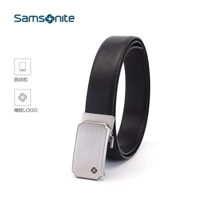 新秀麗(samsonite)男式皮帶時尚潮流金屬腰帶商務休閑皮帶 TK2