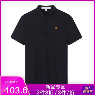 马克华菲男式短袖polo衫2019夏季新款虎头刺绣潮流上衣