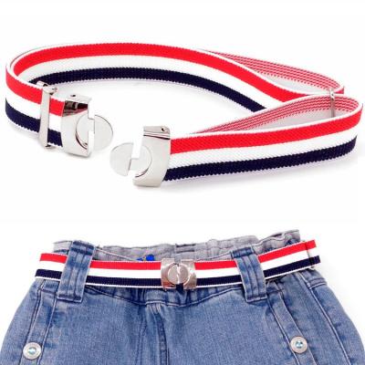 【精品好貨】兒童對扣松緊彈力腰帶男童女童學生裙子可調節皮帶青少年校服褲帶 邁詩蒙