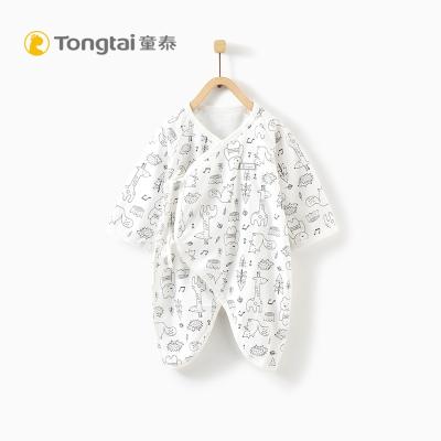童泰新款新生儿纯棉蝴蝶哈衣0-3个月男女宝宝系带连体衣婴儿爬服
