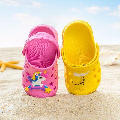 夏兒童涼鞋女男寶寶防滑室內外洞洞鞋嬰幼兒男女童小孩包頭涼拖鞋女 莎丞