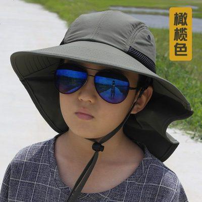 抗戶外兒童漁夫帽運動沙灘遮陽帽旅游防曬親子帽男女學生太陽帽