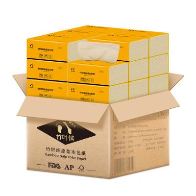蓝漂(Lampure) 抽纸 3层100抽18包竹浆本色抽纸(整箱售卖)