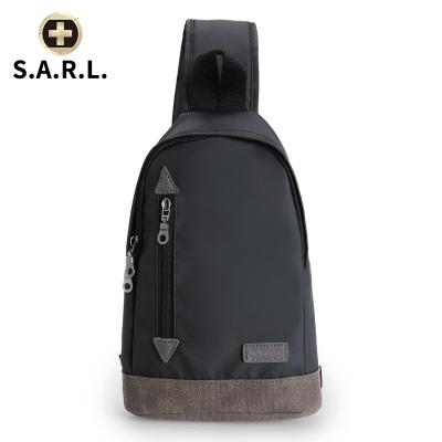S.A.R.L瑞士单肩包百搭拉链胸包 男士斜挎包单肩 帆布包骑行运动背包