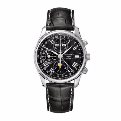 【二手95新】浪琴 名匠系列 40MM表徑自動機械男士手表 精鋼男腕表 皮表帶 黑盤 L2.673.4.51.7