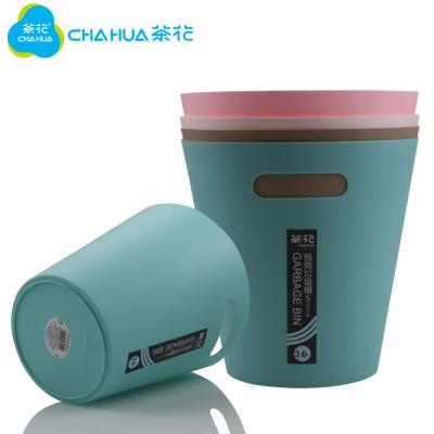 茶花垃圾桶家用客厅厨房创意大号卫生办公室用简约纸篓分类拉圾筒