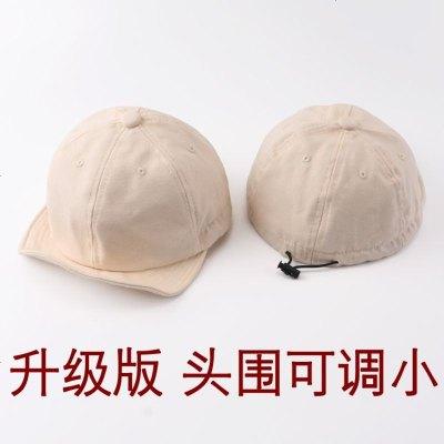歐美復古軟頂卷邊翻檐帽子男女簡約色休閑嘻哈棒球帽夏天遮陽帽