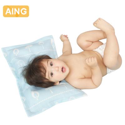 愛音(Aing) 嬰兒枕頭寶寶幼兒園新生兒透氣涼枕 兒童竹纖維小枕頭