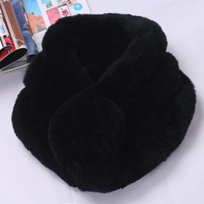 真兔毛围巾女冬款獭兔毛围巾冬季女兔毛围脖加厚保暖皮围巾女士