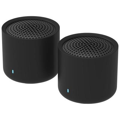 小米(MI)隨身藍牙音箱 | 便攜無線對箱 無線立體聲套裝桌面音響 | 手機連接 黑色