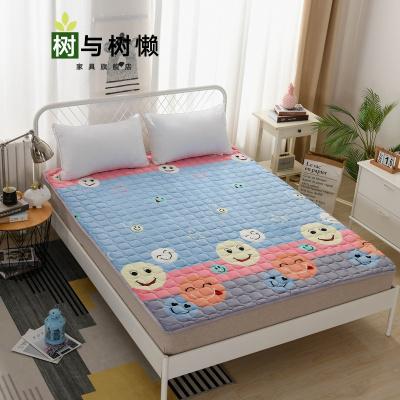 树与树懒 新品薄垫榻榻米床垫子法兰绒四季床垫学生宿舍单人睡垫被褥子1.5m榻榻米1.8米折叠保暖