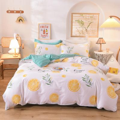 顧致 家紡床上用品全棉純棉四件套歐美簡約床單被套床品套裝1.2/1.5/1.8/2.0/2.2m米床品兒童學生宿舍