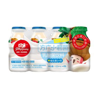 方廣 寶寶酸奶 小君菌乳酸菌飲料 維生素D+鈣 100ML/瓶*4 套裝 進口奶源 果汁