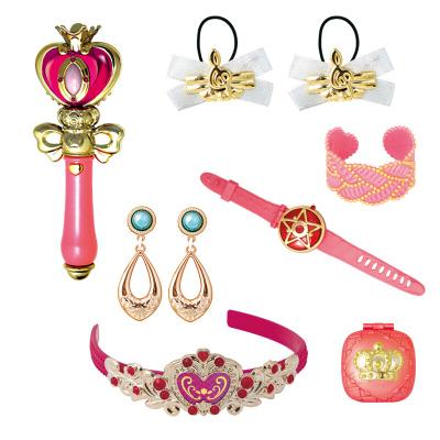 歐銳 巴啦啦小魔仙魔法棒套裝 冰雪奇緣美少女孩玩具公主飾品包包巴拉巴拉頭飾發飾過家家 粉色心型魔法棒(手表+鏡子)