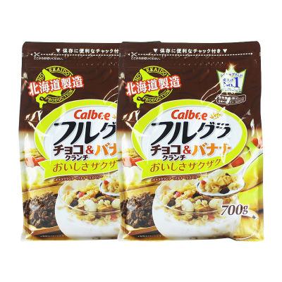 2件裝|卡樂比Calbee水果麥片巧克力曲奇風味700g