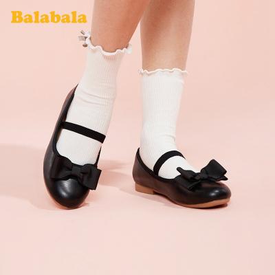 巴拉巴拉官方童鞋兒童皮鞋女公主鞋中大童百搭2020新款春春小童鞋