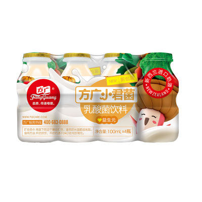 方廣 寶寶酸奶 小君菌乳酸菌飲料 益生元 100ML/瓶*4 套裝 新西蘭進口奶源 果汁