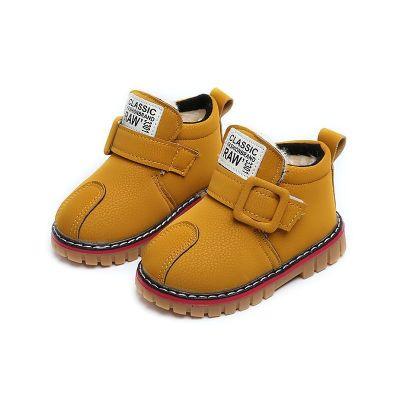 冬季15-30碼兒童雪地靴寶寶棉鞋大棉加厚1-3歲防水防滑男童雪地鞋 衫伊格(shanyige)