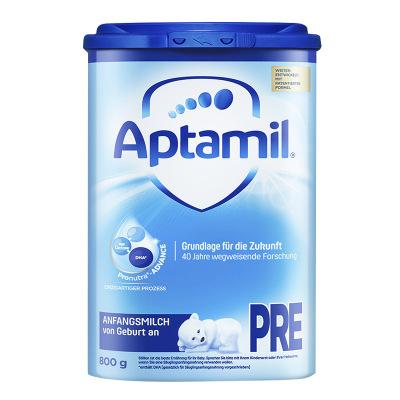 德國進口愛他美(aptamil) HMO升級 嬰幼兒配方奶粉 易樂罐 pre段(0-6個月)800g/罐