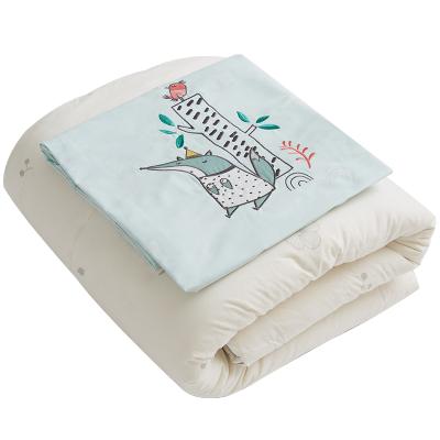 棉花堂新生婴儿被子纯棉四季通用小宝宝春秋冬幼儿园 棉被芯+被套