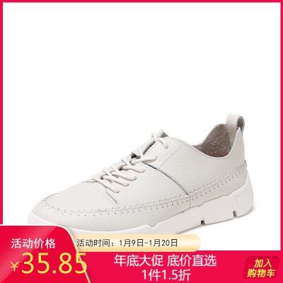 SHOEBOX/鞋柜深口系带牛皮单鞋女休闲时尚女鞋1118101244