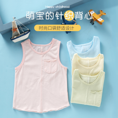龍之涵(LONGZHIHAN)兒童背心純棉女童夏裝童裝新款2020夏季男童童兒童馬甲/背心