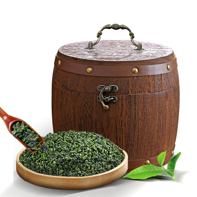 安溪品質濃香型精選鐵觀音茶葉新茶烏龍茶木桶罐裝禮盒裝500g