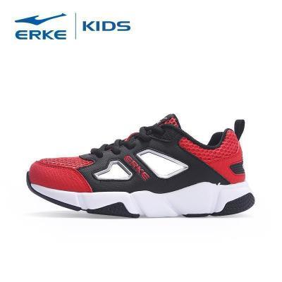 鴻星爾克(ERKE)童鞋兒童鏤空運動鞋子男女童密網休閑鞋網鞋