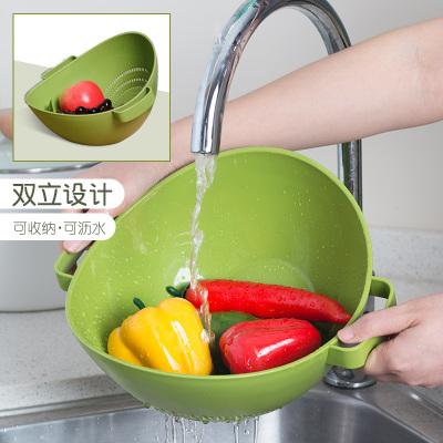 茶花塑料沥水篮加厚洗水果盆厨房洗菜篮