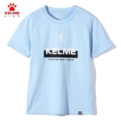 kelme(kids)童裝男童字母印花短袖T恤2019夏裝新款兒童半袖衫