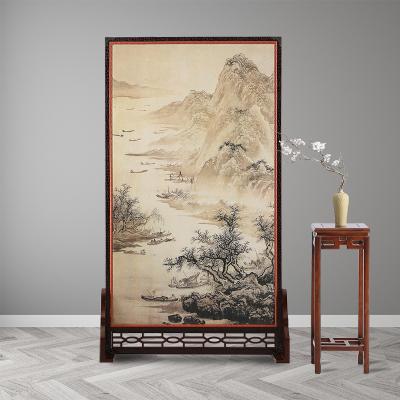 中式屏風隔斷閃電客裝飾客廳實木簡約現代小戶型臥室玄關雙面移動座屏
