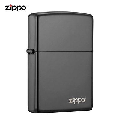美國ZIPPO打火機 芝寶 黑冰鏡面 美國原裝點煙器防風火機 芝寶商務經典 150ZL