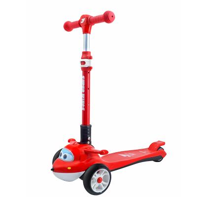 超级飞侠儿童滑板车2-6-12岁小孩宝宝踏板滑行车代步车 一键折叠 重力转向